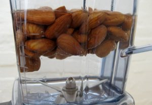 almonds in water