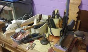 CT 15 work area scrap metal